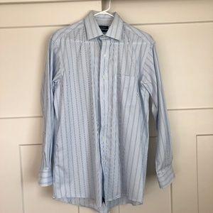 Club Room Iron-free blue striped dress shirt